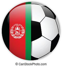 afganisztán, lobogó, labda, háttér, futball