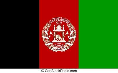 afganisztán, lobogó, vektor, ábra