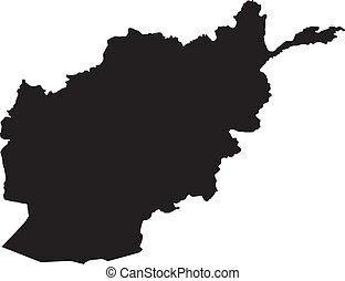 afganisztán, vektor, ábra, térkép
