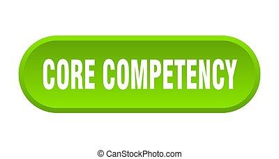 afgerond, kern, competency, witte achtergrond, button., ...