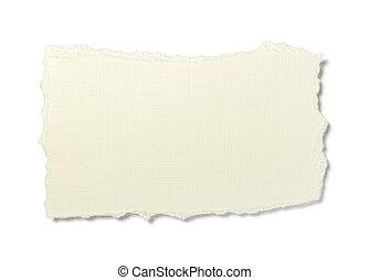 afgescheurde, papier, achtergrond, boodschap, yellowed