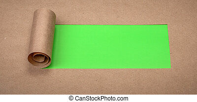 afgescheurde, papier, met, ruimte, voor, tekst