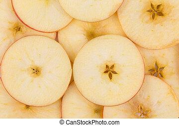 afgesnijdenene, dichtbegroeid boven, apple.