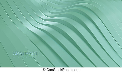 afgesnijdenene, golvend, surface.