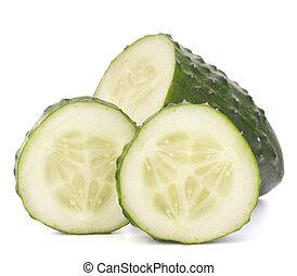 afgesnijdenene, groente, komkommer