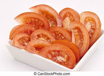 afgesnijdenene, tomaten