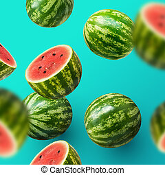 afgesnijdenene, watermelons