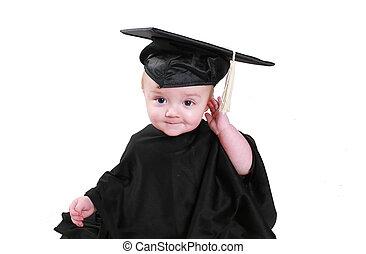 afgestudeerd, baby