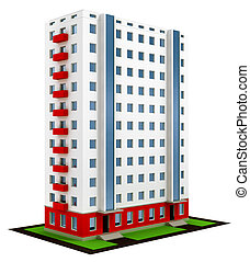 afgewerkt, bouwsector, van, nieuw, moderne, woning