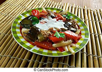 Spicy Braised Eggplant - Afghan Spicy Braised Eggplant dish...