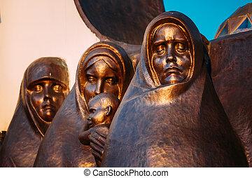 Afghan War Memorial On Island Of Tears or Ostrov Slyoz in...