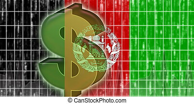 afghanistan, bandiera, finanza, economia
