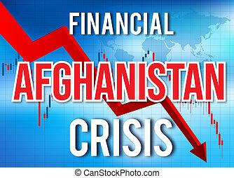 afghanistan, finanziario, crollo, globale, meltdown., economico, abbattersi, crisi, mercato