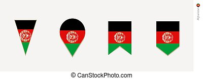 Afghanistan flag in vertical design, vector illustration
