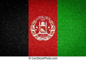 Afghanistan flag on paper background