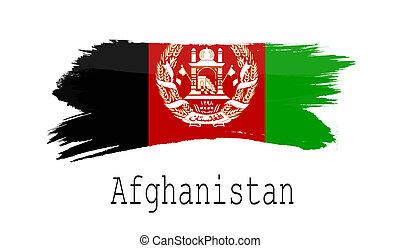 Afghanistan flag on white background