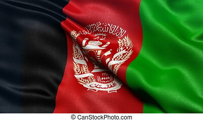 Afghanistan flag seamless loop - Seamless loop of...