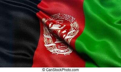 Afghanistan flag seamless loop - Seamless loop of...