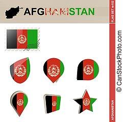 Afghanistan Flag Set, Flag Set #152