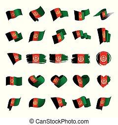 Afghanistan flag, vector illustration