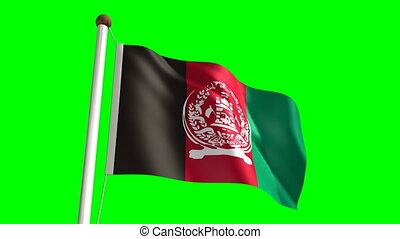 Afghanistan flag video (seamless & green screen)