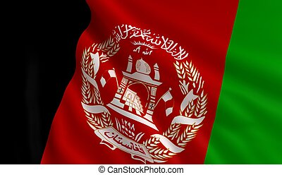 afghanistan, flagga