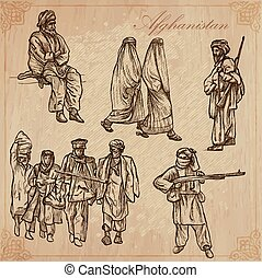 Afghanistan. Hand drawn vector pack no.