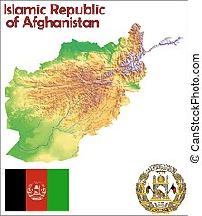 Afghanistan map flag coat