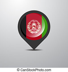 Afghanistan Map Pin