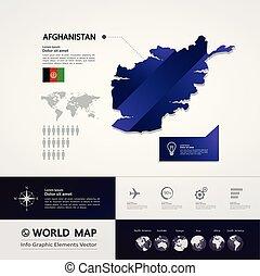 Afghanistan Map vector