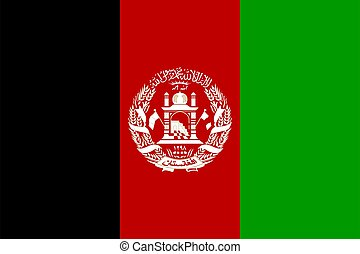 Afghanistan national flag vector illustration. Asian country. Perfect for backgrounds, banner, stickers, posters, wallpapers etc.