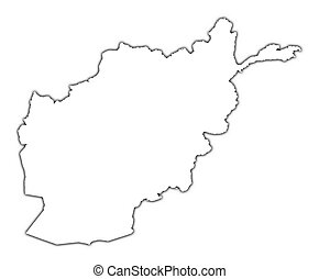 Afghanistan outline map