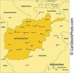 afghanistan, pays, entourer
