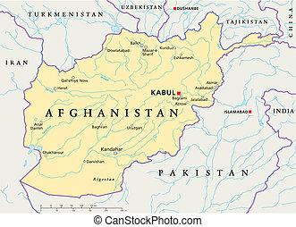 afghanistan, politico, mappa