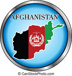 Afghanistan Round Button