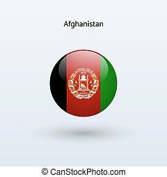 Afghanistan round flag. Vector illustration.