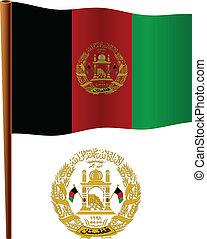 afghanistan, vlag, golvend