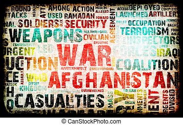 Afghanistan War as a Grunge Abstract Background