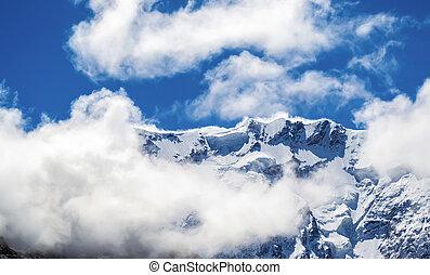 afiado, cume, montanha
