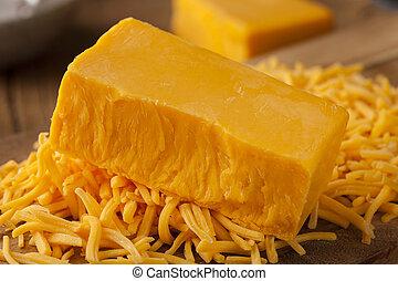 afiado, orgânica, queijo cheddar