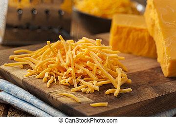 afiado, rasgado, orgânica, queijo cheddar