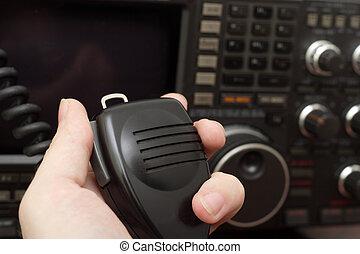 aficionado, radio, engranaje