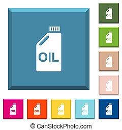 afilado, aceite, bote, blanco, botones, cuadrado, iconos