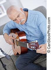 afinación, el, guitarra