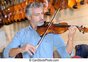 afinación, el, violín