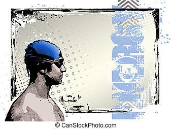 afisz, 2, pływacki