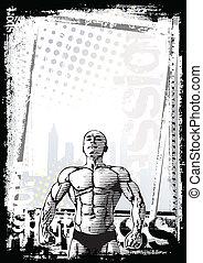 afisz, bodybuilder, 2