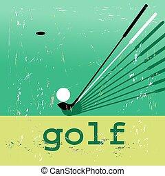 afisz, golf