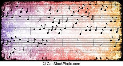 afisz, muzyka, tło, rocznik wina