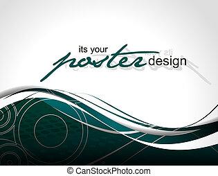 afisz, projektować